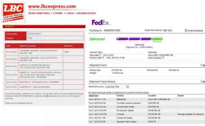 Online Package Tracking