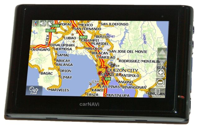 carNAVi PRO BT with Metro Manila map