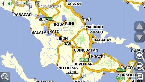 carNAVi 2010, Legazpi area map