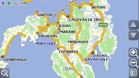 carNAVi 2010, Mindanao map